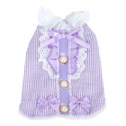 Vertical Stripe Pattern Cotton Pet Dog Clothes - Purple (S)