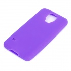 Protective Silicone Back Case for Samsung Galaxy S5 - Purple