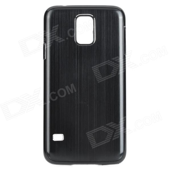 Protective Aluminum Alloy Back Case for Samsung Galaxy S5 - Black replacement back camera circle lens for samsung galaxy s5 g900 black
