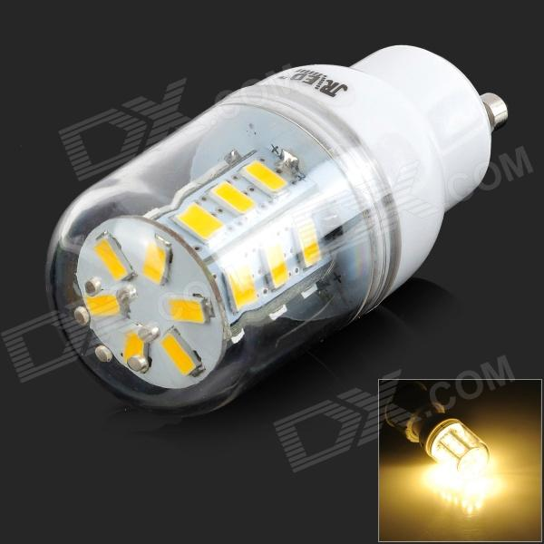JRLED GU10  5W 300lm 3300K 24-5630 SMD LED Warm White Light Bulb - White + Translucent (AC 220~240V)
