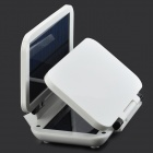 Miniisw SW-4W30 Folding Portable 4W 3000mAh Dual USB Port Solar Charger - White + Black