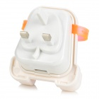 Creative Back Pocket USB AC Power Adapter - White + Translucent Orange (UK Plug)