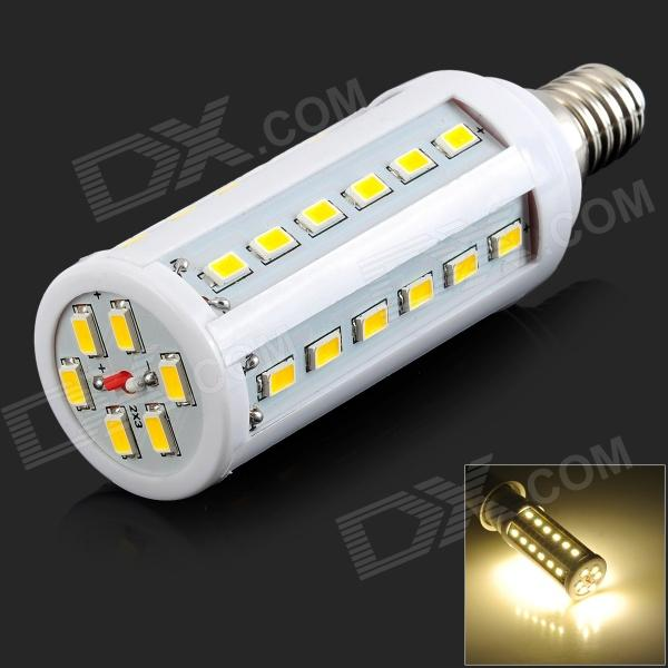 E14 10W 1200lm 3200K 42-LED Warm White Light Lamp - White (AC 220V) - DXE14<br>Color White Color BIN Warm White Brand N/A Model N/A Material Aluminum Quantity 1 Set Power 10W Rated Voltage AC 220 V Connector Type E14 Emitter Type LED Total Emitters 42 Actual Lumens 30-1200 lumens Color Temperature Others2700-3200 Dimmable no Wavelength 0 Certification No Packing List 1 x Lamp<br>