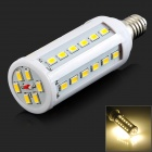 E14 10W 1200lm 3200K 42-LED Warm White Light Lamp - White (AC 220V)