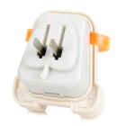 Creative Back Pocket USB AC Power Adapter - White + Translucent Orange (US Plug)