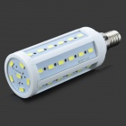 E14 10W 1200lm 6500K 42-5730 SMD LED White Light Corn Bulb - White (AC 220V)