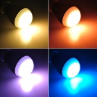 E27 10W 4200K RGB Remote Control LED Light Bulb - Silver (AC 85~265V)
