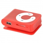 B001 Mini MP3 Player w/ TF Card Slot  / 3.5mm Earphone / USB Cable - Red + White (16GB)