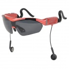 Gonbes Bluetooth V2.1 + EDR Polarized Sunglasses w/ Earphone + Adjustable Ear-hook - Red + Black