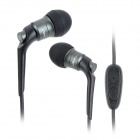 JBM MJ6600 Stylish 3.5mm Jack In-Ear Earphone for Cell Phone / MP3 / MP4 / PC - Black