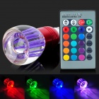 E27 5W 4200K 1-LED RGB Light Bulb w/ Remote Controller - Red + Blue (AC 85~265V)