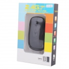Ultra-slim 2.4G Wireless High-frequency DPI 800/1200/1600 Optical Mouse - Black (1 x AA)