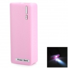 "IKKI Mobile External ""6800mAh"" Power Bank w/ LED Flashlight - Pink"
