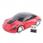 2.4G Wireless High-frequency DPI 1000 Optical Mouse - Red + Black (2 x AAA)