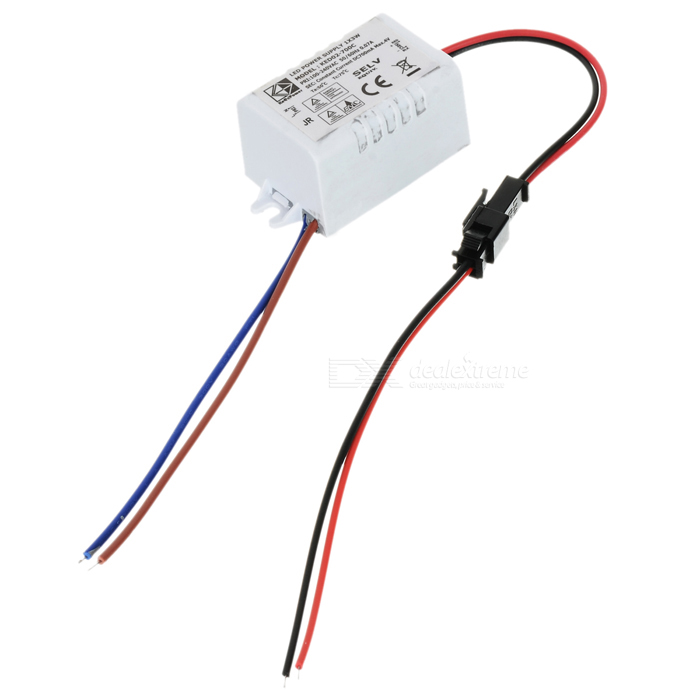 JRLED JRLED-1*3W 3W LED Water Resistant Power Supply Driver - White