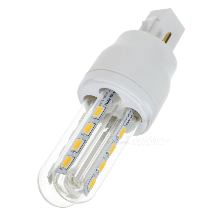 G24 6W 360lm 3000K 8-5730 SMD LED Warm White Light Bulb - White (AC 85~265V)