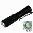 ZHISHUNJIA Cree XP-E R2 6500K 200lm 3-Mode Mini Light Zooming Flashlight - Black (1 x 14500)