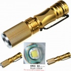 ZHISHUNJIA LED 6500K 200lm 3-Mode Mini Light Zooming Flashlight - Golden (1 x 14500)