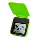 "AQ133 Pocket 2.2"" LCD Travel Alarm Clock w/ Backlight / Snooze Function - Green + Black (2 x CR2025)"