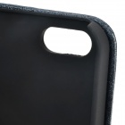 Stylish Protective PU Leather Case Cover for IPHONE 5 - Black