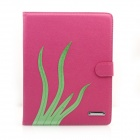 Ultra Thin Protective PU Leather Case Cover Stand w/ Auto Sleep for IPAD 2 / 3 / 4 - Deep Pink