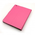 Ultra Thin Beskyttende PU Leather Case Cover Stand m / Auto Sleep for iPad 2/3/4 - Deep Pink