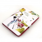 Cute Series Protective PU Leather Case Cover Stand w/ Auto Sleep for IPAD MINI - Green + White