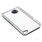 ZH01 Taurus Pattern LED Flash Light Color Changing Protective ABS Back Case for IPHONE 4 / 4S -Black