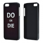 "The World Cup ""Do or Die"" Protective Aluminum Alloy Back Case for IPHONE 5 / 5S - Black"