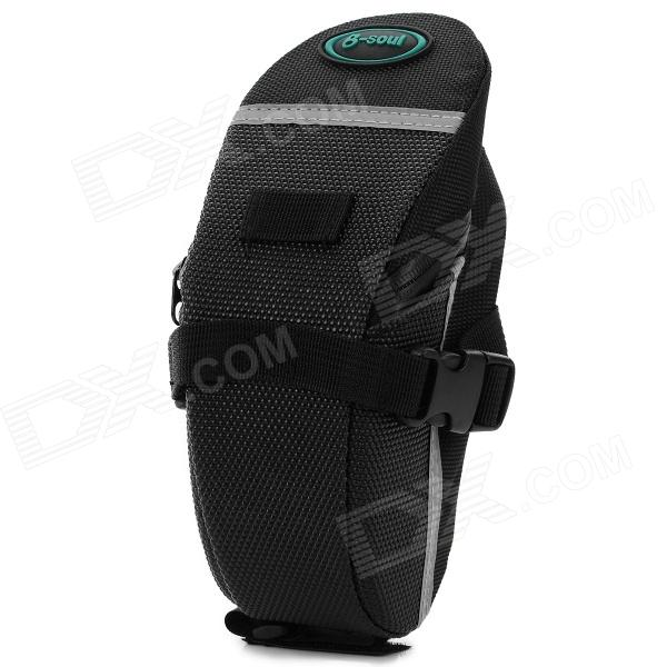 Convenient 600D Oxford Fabric Seat Post Bag for Bicycle - Black