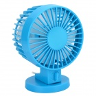 LZZ-8 Mini 30°  Rotary USB Powered 2-Mode 2-Blade Fan - Blue
