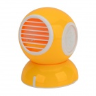 Yiyuan Commodity C07-1000-U1003 Bladeless USB Powered Mini Cooling Turbo Fan - Yellow + White
