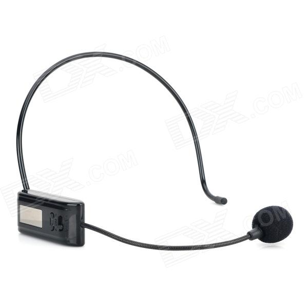 ZW 208 Teaching Guide Volume Adjustable Headband Megaphone Microphone - Black