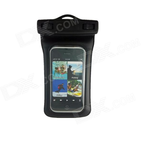 WP-360 Smart Touch Screen Universal Mobile Phone Waterproof Bag - Black universal nylon cell phone holster blue black size l