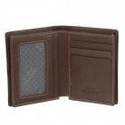 C.S.C AG388WO Stylish Men's Head Layer Cowhide Purse Wallet - Brown