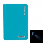 8000mAh Dual USB Mobile Power Bank w / LED Light for Samsung / HTC / Nokia - Blue