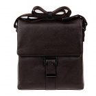 HRLONSI 8988 Fashion Head Layer Cowhide High-Grade Men's Business Bag - Coffee
