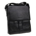 HRLONSI XD153 Fashion Head Layer Cowhide High-Grade Men's Magnetic Cover Business Bag - Black