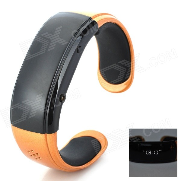 RQ-05 Bluetooth Bracelet Watch Answer Call w/ Vibration + Mic + Speaker + Time + Cell Phone - Golden wireless service call bell system popular in restaurant ce passed 433 92mhz full equipment watch pager 1 watch 7 call button