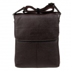 HRLONSI 8803-2 Fashion Head Layer Cowhide High-Grade Men's Magnetic Cover Business Bag - Coffee