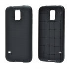 Plaid Pattern Protective TPU Back Case for Samsung Galaxy S5 - Black