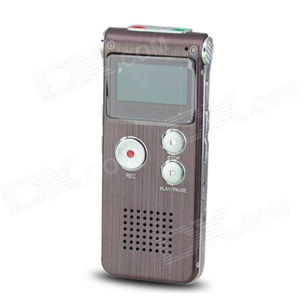 Portable 1.0 LED Digital Voice Recorder w/ WMA, WAV, MP3 / Telephone Recording - Wine Red (4GB) best battery brand mp3 mp4 free shipping 3 7v lithium battery 061530 601533 250mah mp4 mp5 voice recorder small toys gps 37v