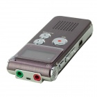 "Portable 1.0"" LED Digital Voice Recorder - Wine Red (8GB)"