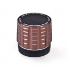 K5 4 in 1 Wireless Bluetooth V3.0 Stereo Audio Speaker w/ TF, FM, 3.5mm AUX In, Microphone - Brown