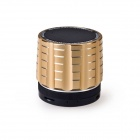 K5 4 in 1 Wireless Bluetooth V3.0 Stereo Audio Speaker w/ TF, FM, 3.5mm AUX In, Microphone - Golden
