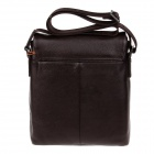 HRLONSI 98011-4 Fashion Head Layer Cowhide High-Grade Men's Magnetic Cover Business Bag - Coffee