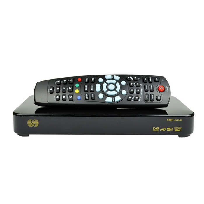 Original Skybox F5S HD PVR Full 1080P Satellite Receiver w/ Wi-Fi, GPRS, MPEG5 - Black (EU Plug) s930a hd dvb s s2 twin tuner nagra 3 satellite receiver w wi fi black