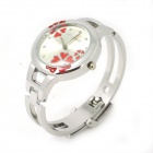 Chaoyada Stylish Bracelet Style Women's Quartz Wrist Watch - Silver + Red (1 x LR626)