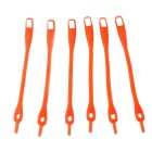 Creative Silicone Buckle Shoelace Set - Orange Red (6 PCS)