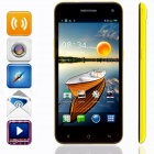 "KICCY 6.9mm Ultra-thin Quad-core Android 4.2 WCDMA Bar Phone w/ 5.0"" IPS, WIFI , GPS , OTG - Yellow"